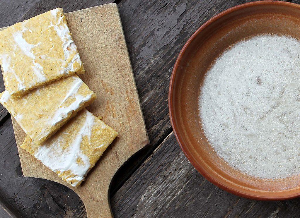 Mlečna repa s koruzno zljevanko – recept