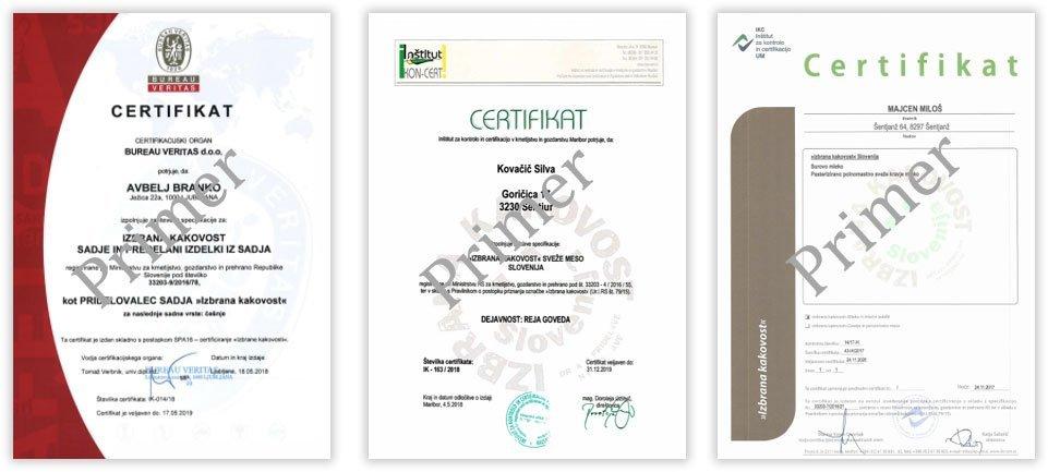 Certifikat izbrana kakovost