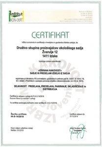 Izbrana kakovost - certifikat