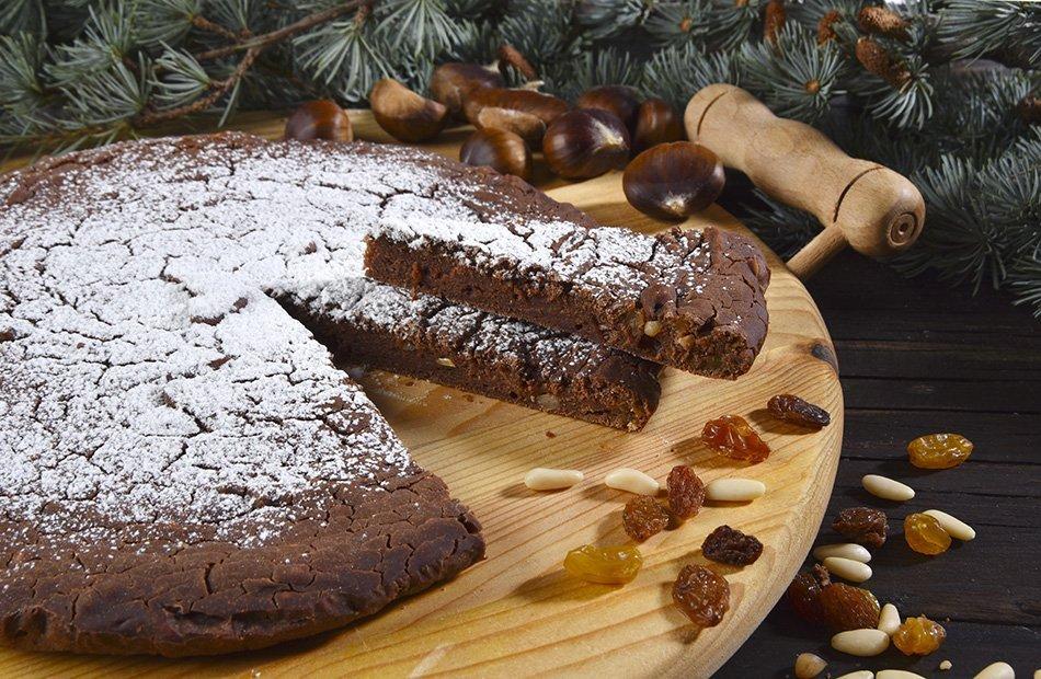 Kostanjeva torta s čokolado brez peke – recept