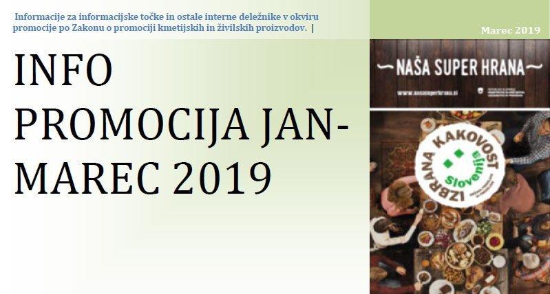 Info – Promocija januar – marec 2019