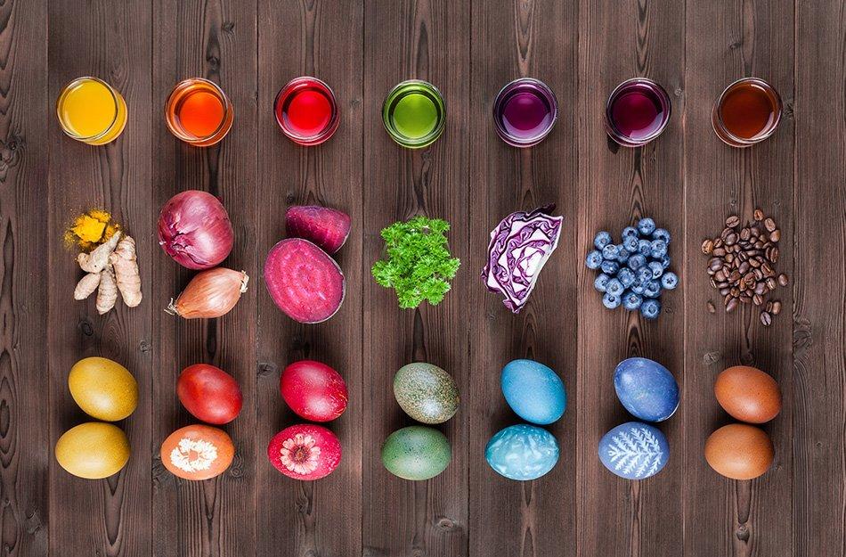 Pirhi in pisanice z naravnimi barvili | Naša super hrana