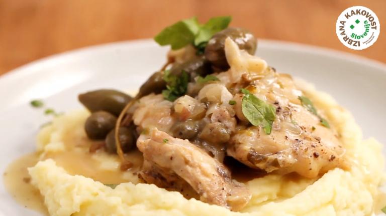 Počasi dušena piščančja stegna - video recept