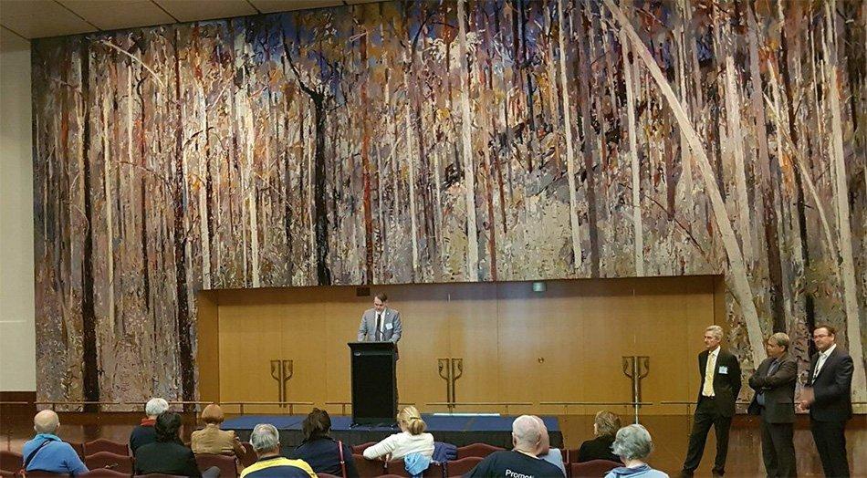 Nagovor slovenskega veleposlanika v avstralskem parlamentu