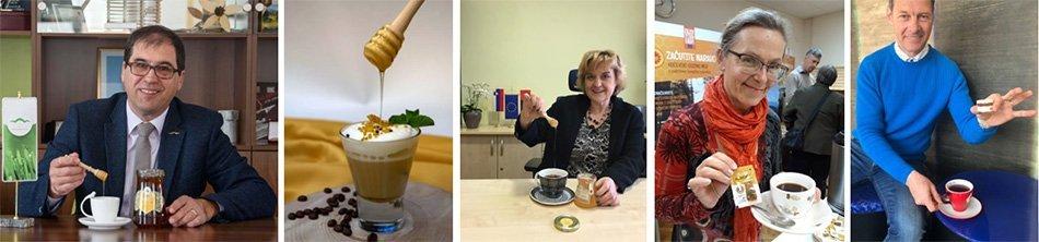 Projekt pijmo kavo in čaj z medom