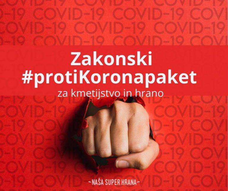 ProtiKorona zakonski paket zagotavlja pomoč tudi za kmete
