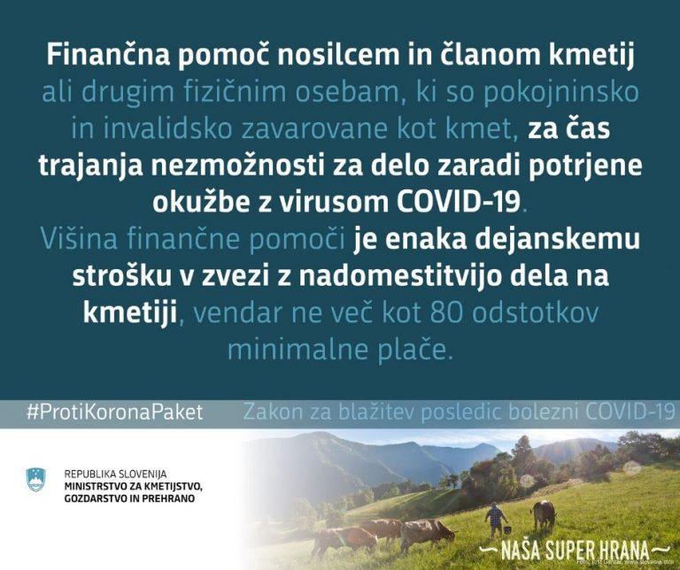 Finančna pomoč zaradi COVID-19