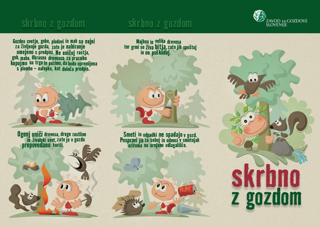 Zgibanka - Skrbno z gozdom