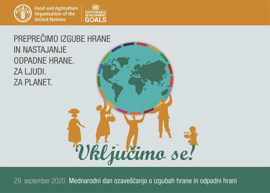 Grafika - Mednarodni dan ozaveščanja o izgubah hrane in odpadni hrani