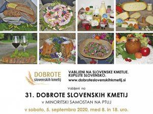 Vabilo na dogodekj. Kolaž fotografije: Kurh, mesni narezek, mlečni izdelki, potica, vino, sadje
