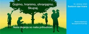 Grafika - Svetovni dan hrane - Otroci v naravi pod drevesom
