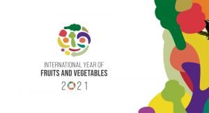 Grafika in logotip mednarodno leto sadja in zelenjave