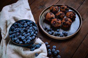 Veganski borovničevi muffini