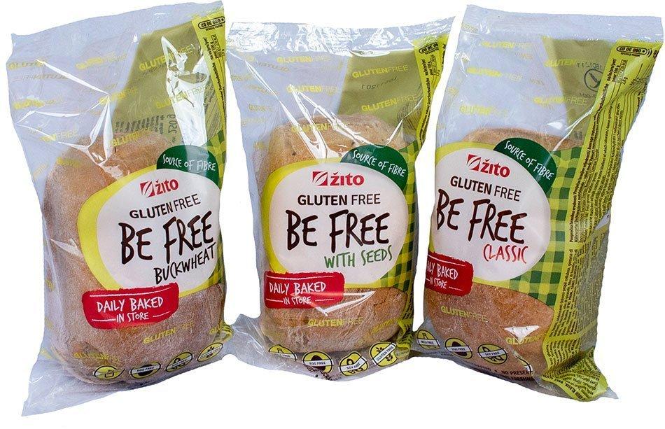Linija brezglutenskih kruhov Be free - inovacija leta 2021