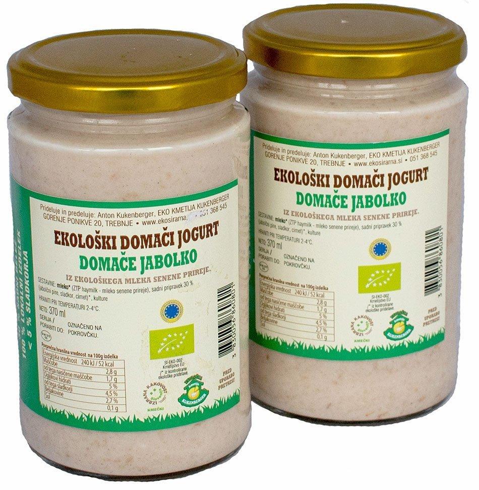 Ekološki jogurt Domače jabolko - inovativna živila 2021