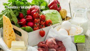 Zelenjava, meso, sir - ekološko