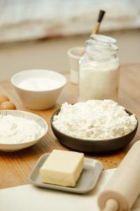 Mlečni izdelki na mizi